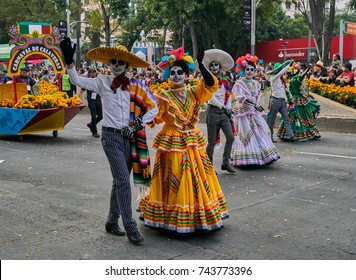 Day of the dead parade in Mexico city October 28, 2017