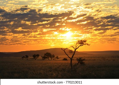 The day draws to an end - Sunset in Namibia