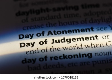 day of judgement word in a dictionary. day of judgement concept