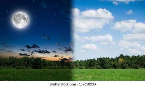 day and night background