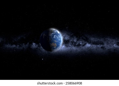 Day and night on planet Earth  elements of this image furnished by NASA