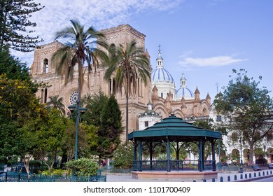 Day time view Cathedral of the Immaculate Conception, Cuenca Ecuador