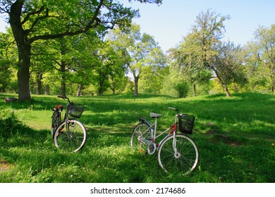 Day trip on bicycle in the nature.