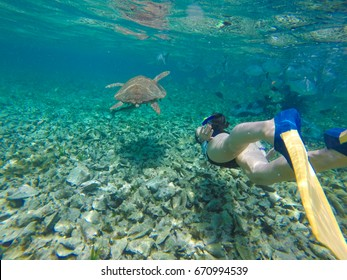 Day Trip Snorkeling From Caye Caulker Belize On Coral Reefs