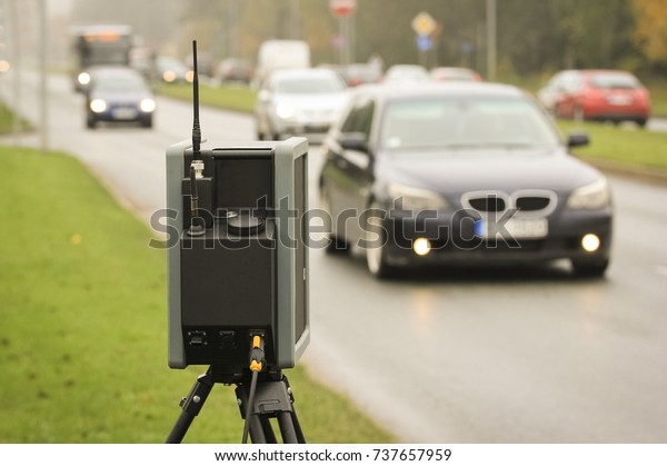 Day View Average Speed Traffic Camera Stock Photo (Edit Now) 737657959