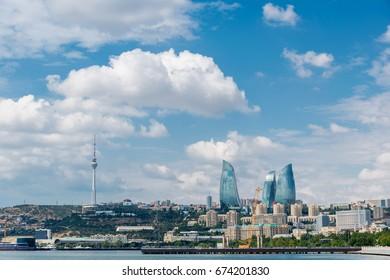 Day view of Baku Azerbaijan architecture