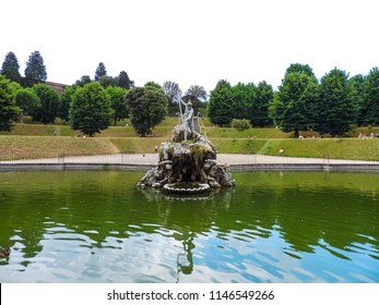 Day view of the Vasca del Nettuno (Fountain of Neptune), located at Boboli Gardens in Palazzo Pitti - Florence, Italy
