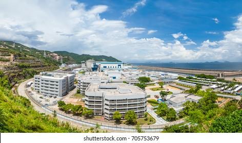 DAYA BAY, CHINA - AUGUST 10, 2017: Daya Bay nuclear  power plant, Guangdong Province, China, August 2017.