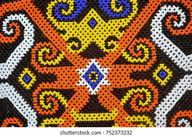 dayak bead motifs background