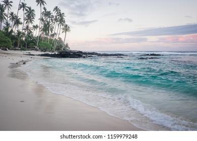 Daybreak at Lefaga Matautu Beach, Upolu Island, Western Samoa, South Pacific