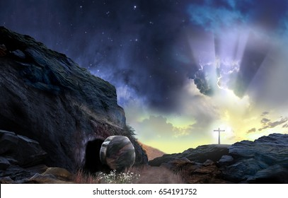 Daybreak Resurrection - Elements of This Image Furnished by NASA