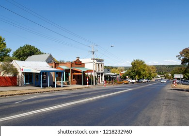 Daylesford, Australia: March 23, 2018: Daylesford is a small town to the west of Melbourne. It is a popular tourist attraction with quaint buildings and gift shops.