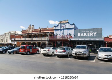Daylesford, Australia: March 23, 2018: Daylesford is a small town to the north-west of Melbourne. It is a popular tourist attraction with quaint buildings and gift shops.