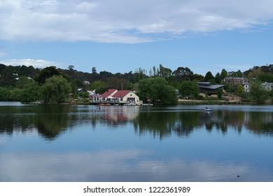 Daylesford - VIC / Australia - November 04 2018: Daylesford lake