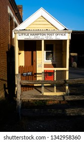 DAYLESFORD, VICTORIA, AUSTRALIA - 17 MARCH 2019: The tiny, but quaint, gold rush era Little Hampton Post Office, built in 1887, operated until 1972 before being moved to nearby Daylesford.