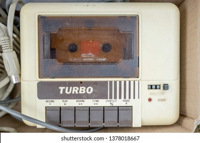 Daylesford,Victoria Australia-4/22/2019: Commodore 64 Cassette Deck found at an antiques market