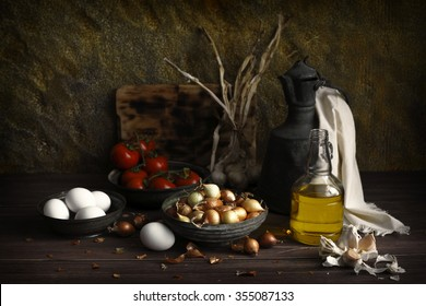 daylight photographed food materials, color image, food