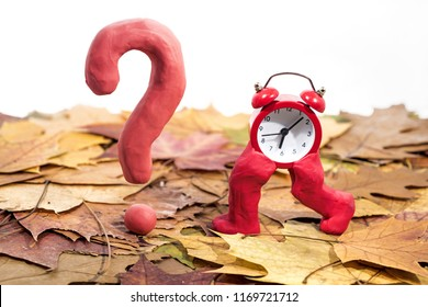 Daylight Saving Time. Wall Clock going to winter time. Autumn abstraction. Fall back time.