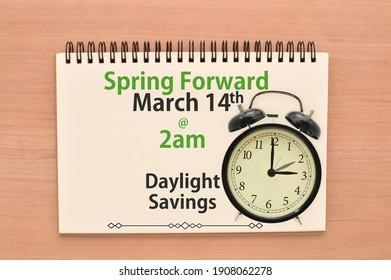 Daylight Savings Spring Forward March 14