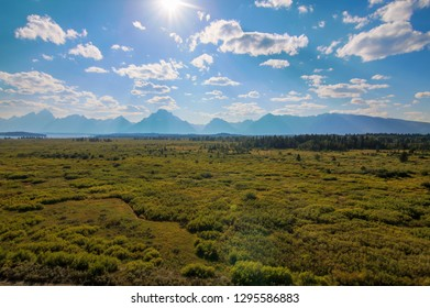 Daytime Image of Grand Tetons National Park in Wyoming, USA