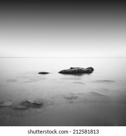 daytime long exposure / calm water / odessa, ukraine