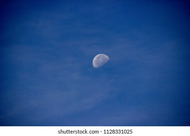 daytime moon in sky