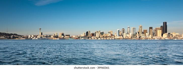Daytime skyline of Seattle, Washington, USA