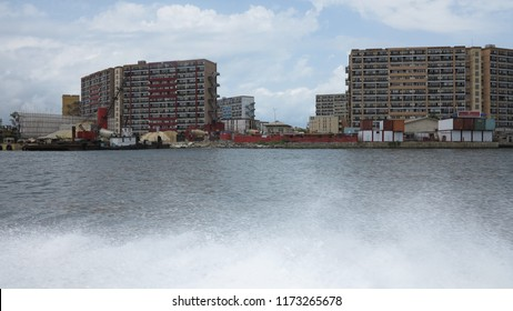 Daytime View of the 1004 Block of Flats, Victoria Island, Lagos, Nigeria across the Five Cowries Creek