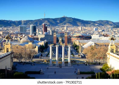 Daytime View from MNAC - January 2018 - Barcelona, Spain