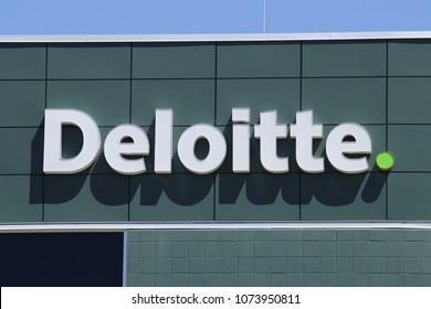 Dayton - Circa April 2018: Local Deloitte tax and advisory office. Deloitte is a multinational professional services network I