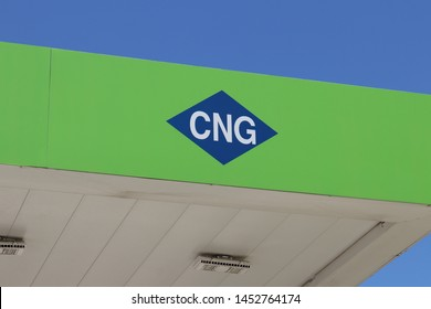 Dayton - Circa July 2019: Compressed natural gas logo. CNG is a fuel which can be used in place of gasoline, diesel fuel and propane II