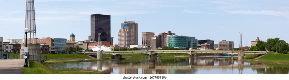 Dayton, City in the state of Ohio, United States of American, as seen from Deeds Point Metropark