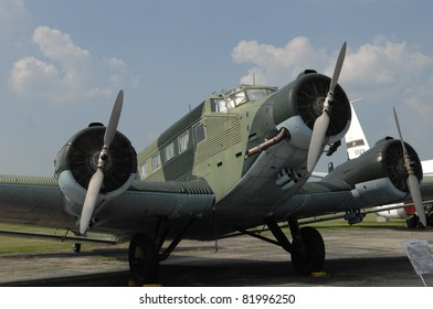 DAYTON OH - 17 JULY: World War II Ju-52 Luftwaffe transport at the National Museum of the Air Force, Wright-Patterson Air Force Base on 17 July 2011 in Dayton, Ohio.