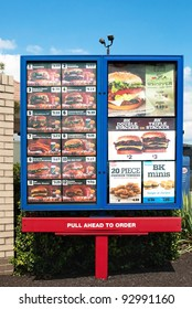 DAYTON, OHIO- JANUARY 17: Burger King announces that it is now offering delivery service in Washington, D.C. & plans to expand the trial to more locations coming soon, Dayton, Ohio, January 17, 2012.