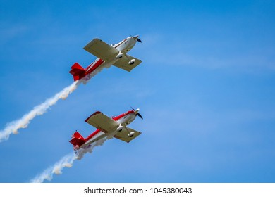 Dayton, Ohio - June 18th, 2016: Redline Aerobatic Flying Demonstration -  Dayton Air Show