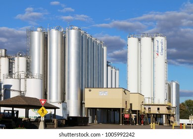 DAYTON, OHIO-JANUARY 21, 2018:  Outdoor industrial storage tanks