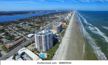 Daytona Beach aerial view, Florida.