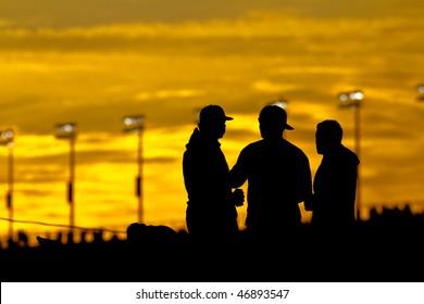 DAYTONA BEACH, FL - FEB 14:  Fans watch the 52nd Annual Daytona 500 race at the Daytona International Speedway Feb 14, 2010 in Daytona Beach, FL.