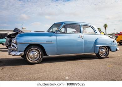 Daytona Beach, FL - November 29, 2020: 1951 Plymouth Cranbrook at a local car show.