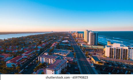 Daytona Beach Florida aerial photograph.