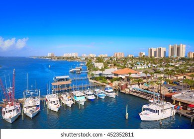Daytona Beach in Florida aerial at Port Orange marina of USA