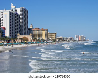 Daytona Beach Florida Boardwalk and shoreline