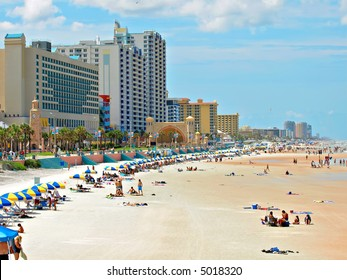Daytona Beach Florida during a hot summer day