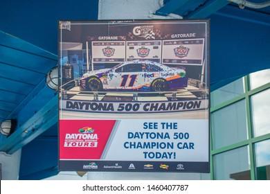 Daytona, Florida. July 18, 2019. Daytona 500 Champion Car at Daytona International Speedway 41