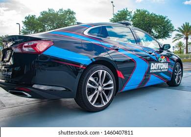 Daytona, Florida. July 18, 2019. Daytona 500 car at Daytona International Speedway 4.