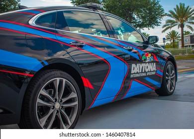Daytona, Florida. July 18, 2019. Daytona 500 car at Daytona International Speedway 6