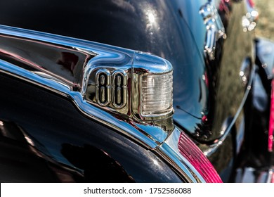 Daytona, Florida / United States - November 24, 2018: 1950 Oldsmobile 88 at the Fall 2018 Daytona Turkey Run.
