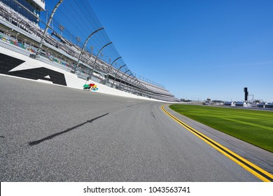 Daytona, Florida/USA - January 16th 2018: Racetrack at Daytona