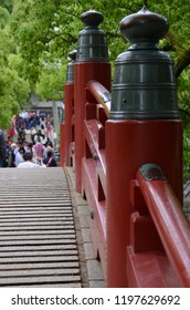 DAZAIFU TEMPLE, JAPAN - MAY 14,2015: The crowded of traveller in the area of Dazaifu temple, Fukuoka