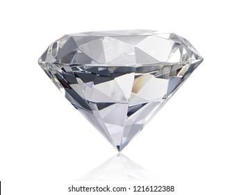 Dazzling diamond on white background